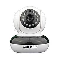 Поворотная записывающая Wi Fi IP камера Wanscam HW0046 SD HD, фото 1