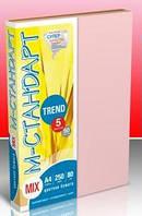 """Бумага цветная """"М-Стандарт"""" A4 mix TREND  (5 цветов) 250 листов 80г"""