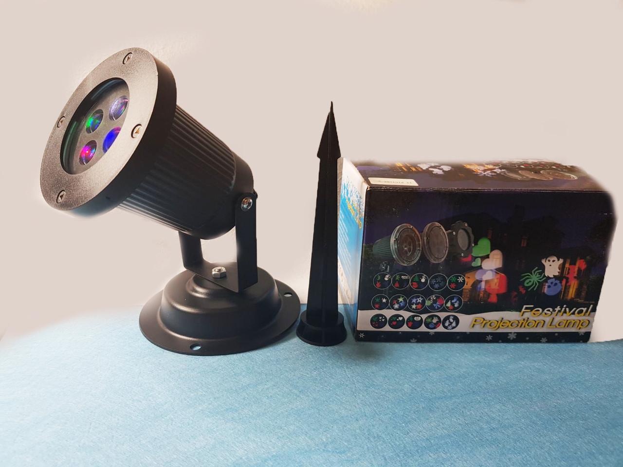 Новорічний лазерний проектор вуличний Festival Projection Lamp