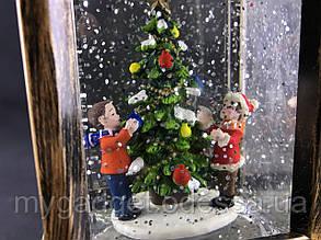 Декоративный рождественский светильник со снегом  WDL1873