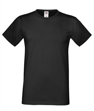 Мужская футболка черная приталенная 412-36
