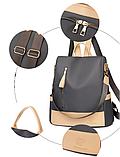 Рюкзак-сумка жіночий нейлон Zhimingdu, фото 7
