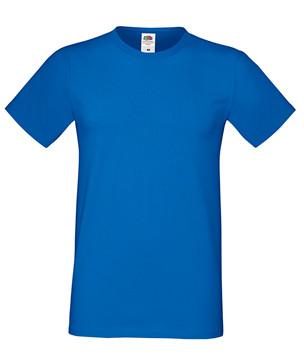 Мужская футболка синяя приталенная 412-51