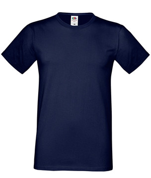 Мужская футболка темно-синяя приталенная 412-AZ