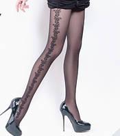 Колготки женские с узором по всей ноге FLORY 40