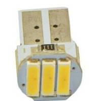Светодиодная лампочка white t10 w5w 3smd 7014 12v