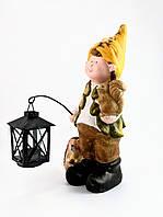 Садовый леприкон с фонарем-подсвечником Home