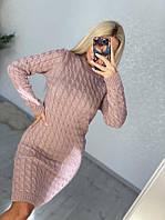 Платье женское машинная вязка размер универсал 46-52, фото 1