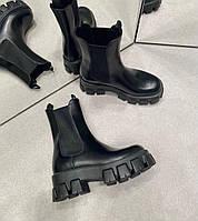 Кожаные ботинки PRADA  (реплика), фото 1
