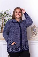 Кофта женская машинная вязка размер универсал 52-60, фото 1
