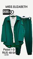 Женский костюм тройка зеленый Sogo 21-108