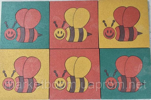Резиновое покрытие для детских площадок,резиновый мат 500 х500