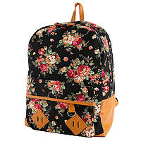 Женский рюкзак в цветочный принт CC5473 Черный