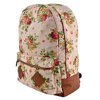 Женский рюкзак в цветочный принт CC5473 Розовый