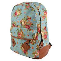 Женский рюкзак в цветочный принт CC5473 Корич