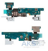 Шлейф для Samsung E700F Galaxy E7 с разъемом зарядки и гарнитуры, кнопкой  Home, кнопками сенсора и микрофоном Original