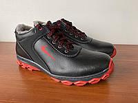 Чоловічі кросівки зимові чорні на хутрі (код 8201)