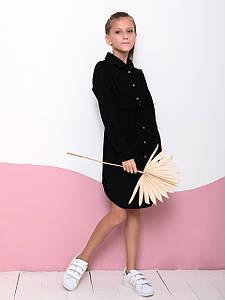 Вельветове сукня-сорочка з поясом для дівчинки CD-457. Розмір 122-152