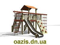 """Детская площадка """"Лодочка"""" с деревянной крышей, фото 1"""