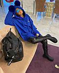 Женский батник, трехнить, р-р универсальный 42-46 (синий), фото 2