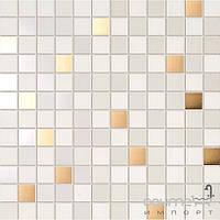 Плитка для ванной Supergres Плитка Supergres Ceramiche Petali Mosaico Fresia Oro