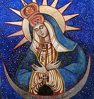 Икона Божьей Матери Остробрамская рукописная