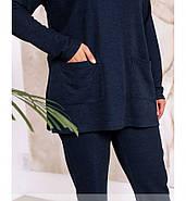 / Розмір 48-50,52-54,56-58,60-62,64-66 / Жіночий трикотажний костюм / 2313-Електрик, фото 3