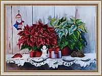 """P-221 Набор для вышивания бисером """"Рождественский натюрморт 2"""""""