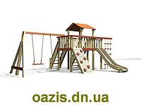 """Детская площадка """"Лодочка"""" с деревянной крышей и качелями от """"Стожар"""", фото 1"""
