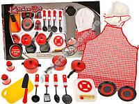 Игрушечный кухонный набор с плитой и посудой  ZA1148