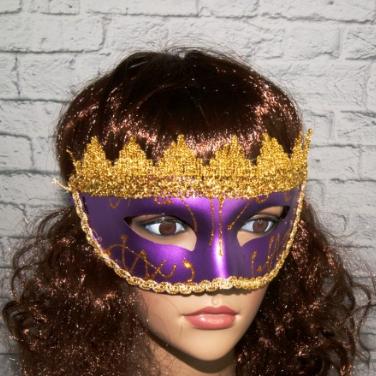 Венеціанська маска Вероніка ABC бузкова, фото 2