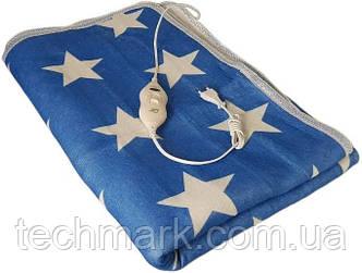 Простирадло з підігрівом Electric Blanket 150х120 см синя з білим ТМ