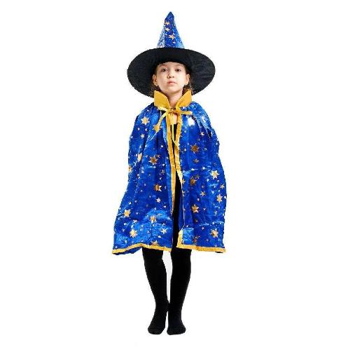 Детский карнавальный костюм Волшебник ABC синий