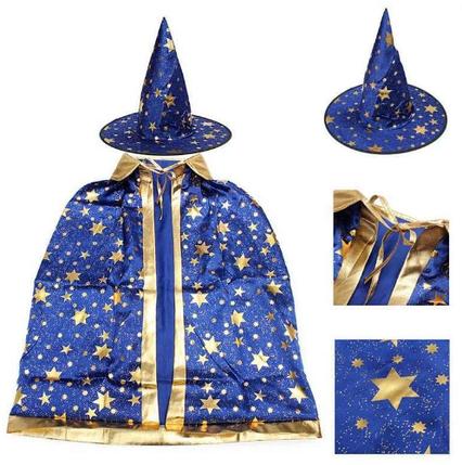 Детский карнавальный костюм Волшебник ABC синий, фото 2