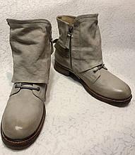 Кожаные ботинки сапоги эксклюзив ручная работа 42 размер