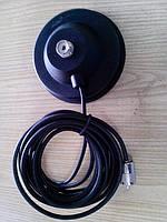 Магнитное основание для антенны 11 см. с кабелем