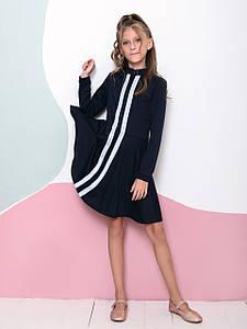 Трикотажна сукня на блискавці для дівчинки CD-433. Розмір 122-140,152