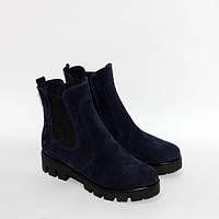 Женские ботинки Челси на тракторной подошве, натуральный замш, фото 1