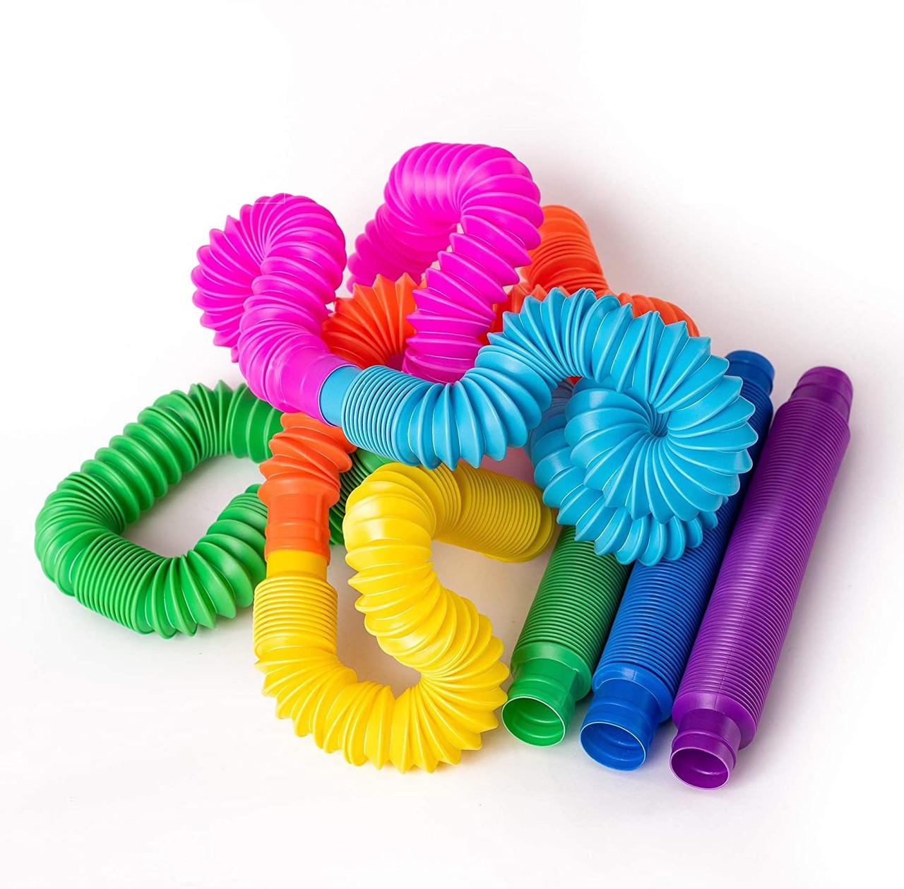 Развивающая сенсорная детская игрушка Pop Tube антистресс поп туб 8 шт набор 15х1 см POP-TB-47