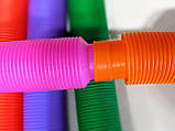 Развивающая сенсорная детская игрушка Pop Tube антистресс поп туб 8 шт набор 15х1 см POP-TB-47, фото 4