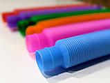 Развивающая сенсорная детская игрушка Pop Tube антистресс поп туб 8 шт набор 15х1 см POP-TB-47, фото 5