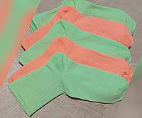 Носки 37-40 размер 5 пар высокие неоновые плотные хлопок 5 шт. комплект упаковка женские / мужские