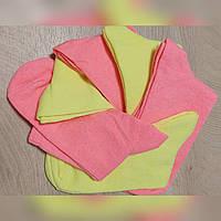 Носки 37-40 размер 6 пар высокие неоновые плотные хлопок 6 шт. комплект упаковка женские / мужские