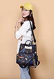 Рюкзак жіночий чорний пір'я, фото 5