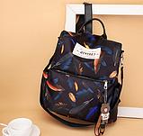 Рюкзак женский черный перья, фото 6