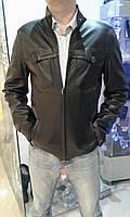 Куртка мужская на змейке, кожа