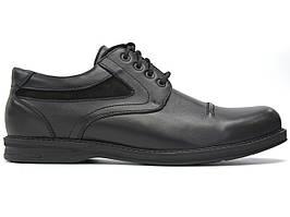 Мужские полуботинки кожаные черные обувь демисезонная Rosso Avangard WinterprinceZ