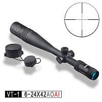Прицел оптический VT-1 PRO 6-24x42 AOAI (Discovery)+2 подарка+бесплатная доставка или скидка!