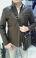 Куртка из натуральной кожи темно-коричневая