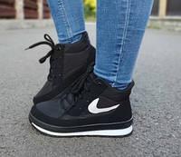 Теплі черевики жіночі зимові чорний